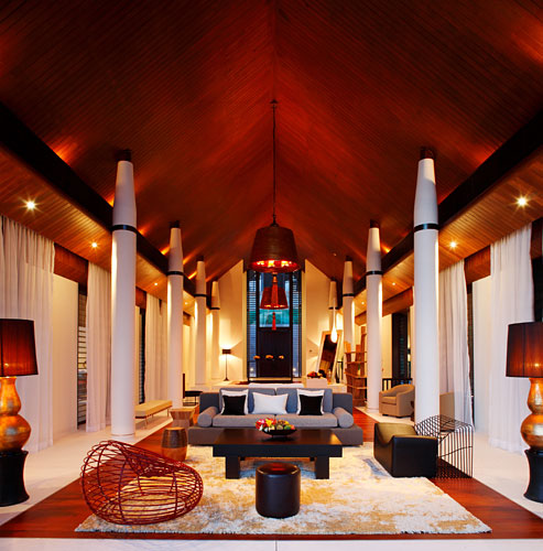 Photo of incredible modern living room in the modern villa in Phuket