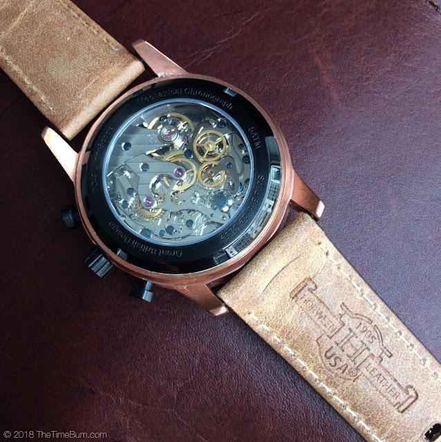 TC-9 LunarScope Chronograph cream caseback