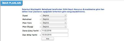 İstanbul imar planı sorgulama
