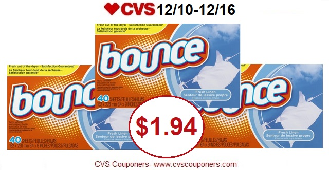 http://www.cvscouponers.com/2017/12/hot-pay-194-for-bounce-sheets-at-cvs.html