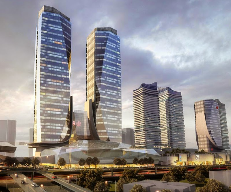 Chongqing Highspeed Railway Terminal (300 Meter Office Towers)
