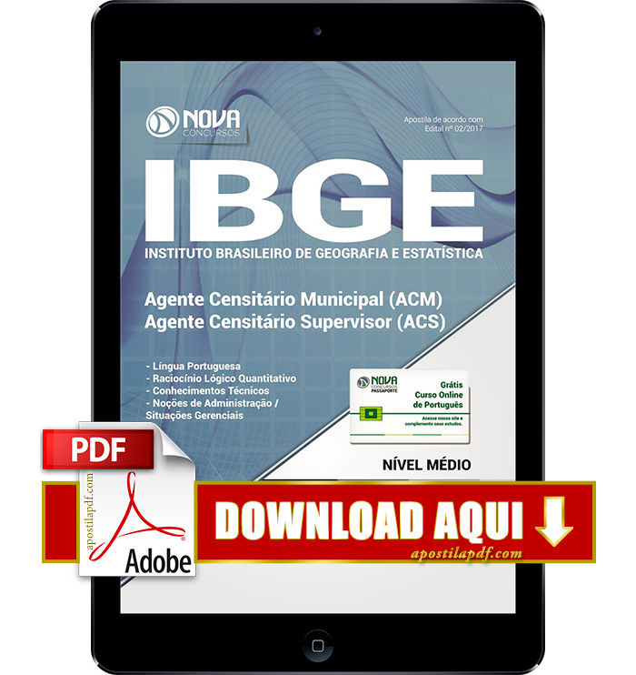 Apostila IBGE 2017 PDF Download Agente Censitário Municipal