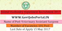 Government of Telangana Animal Husbandry Department Recruitment – 101 Veterinary Assistant Surgeon