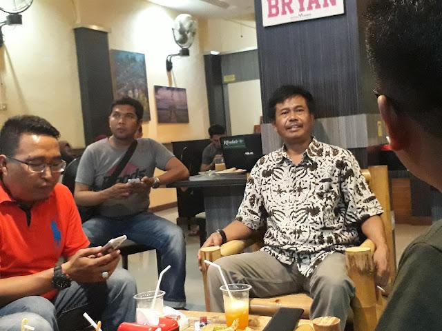 Foto Kabinda Sulbar Susetyo Bersama Insan Pers di Sulbar.