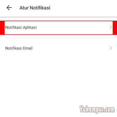nonaktifkan notifikasi tokopedia