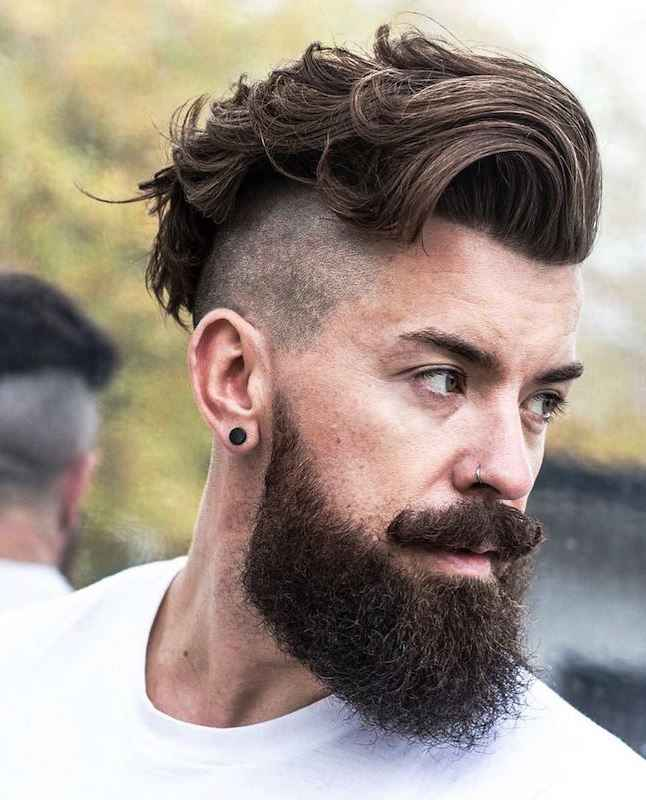 undercut with beard for men