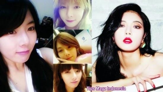 artis korea HyunA - 4minute tanpa memakai makeup