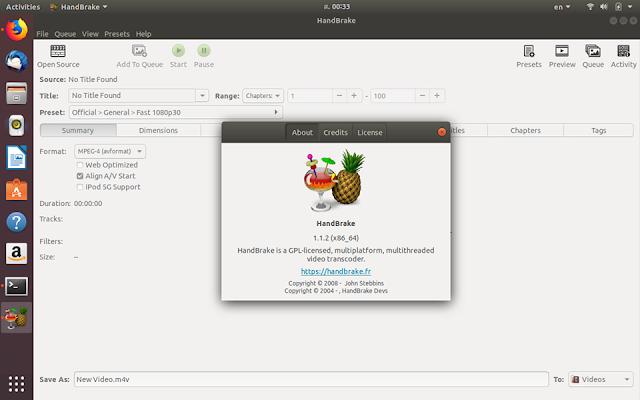 How to Install HandBrake 1 1 2 on Ubuntu 18 04   New Study Club