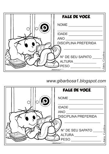 Ficha de Sondagem para Educação Infantil