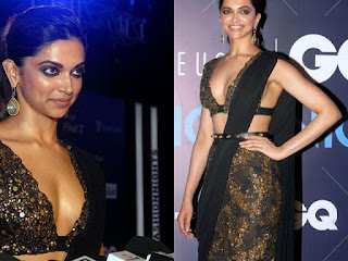 Deepika Padukone in lovely saree at Van Heusen GQ Fashion Nights 2017 in Mumbai on Sunday 12th November 2017