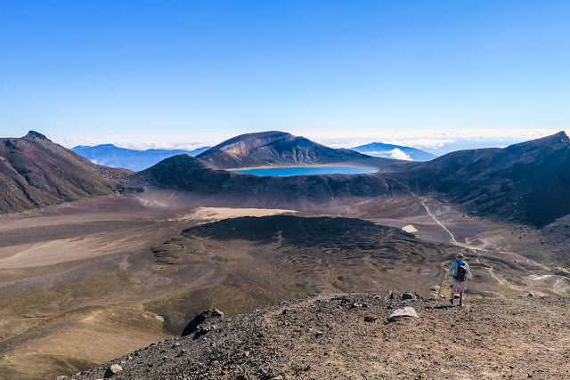 Towards Blue Lake Tongariro Crossing