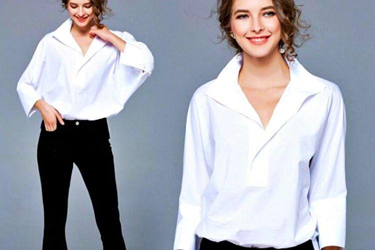 Beyaz gömlek temel parçalardan biridir ve neredeyse her tarzla uyumludur.