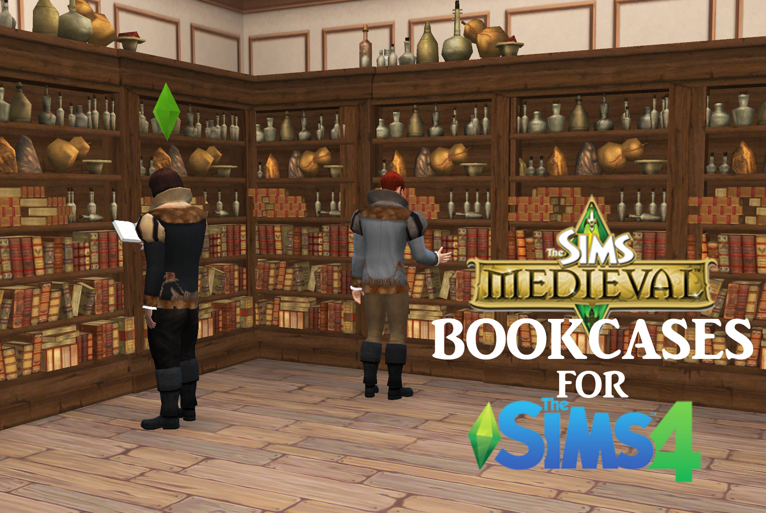 Wonderful image of  : The Sims Medieval Bookcases for Sims 4 History Lover's Sims Blog with #2866A3 color and 1489x999 pixels
