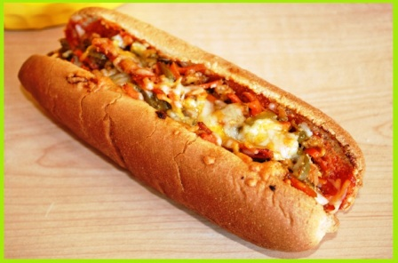 Paneer Hot Dog Bun