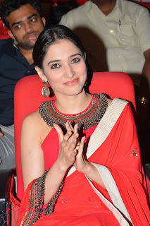 Tamannaah Stills in Red Saree at Oopiri Thanks Meet ~ Celebs Next