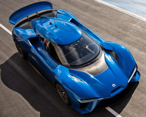 Tinuku.com Chinese electric car startup showcased NextEV NIO EP9 as the world's fastest electric powered supercar
