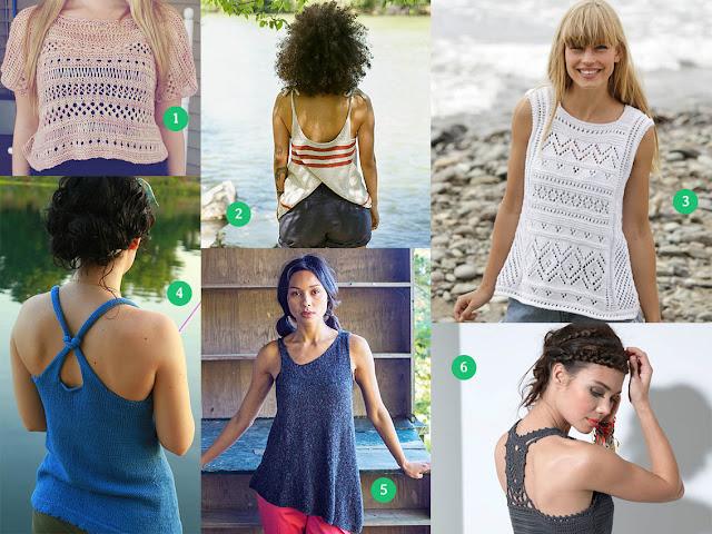 idée pour un top d'été au tricot ou au crochet