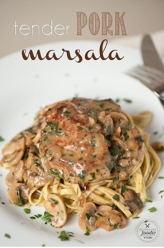 Tender Pork Marsala