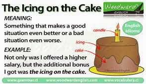 10 idioms + meaning + 2 examples.