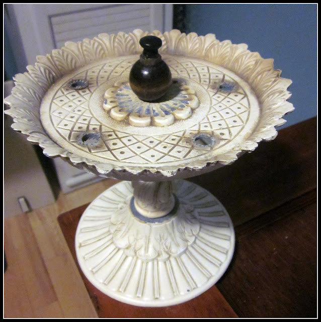 Pedestal dish before paint useful in so many ways