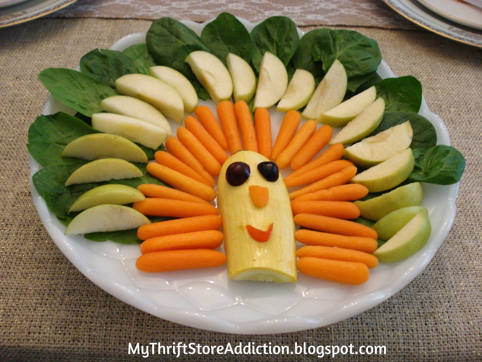 Simple turkey veggie tray recipe