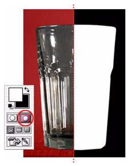 cara membuat efek object seolah tembus kaca