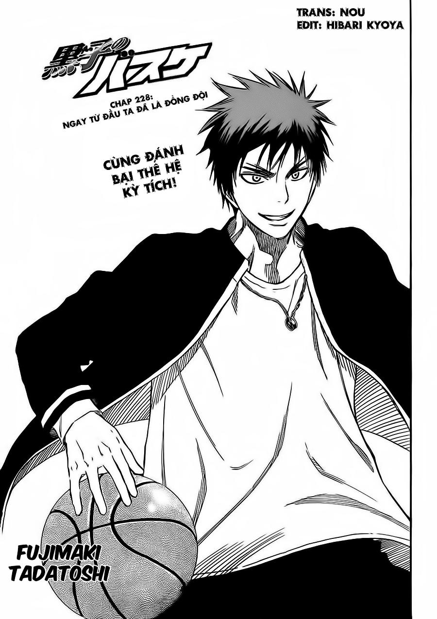 Kuroko No Basket chap 228 trang 3