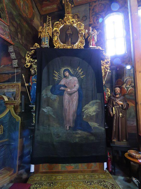 Kurtyna wielkopostna - Matka Boża Siedmiobolesna.