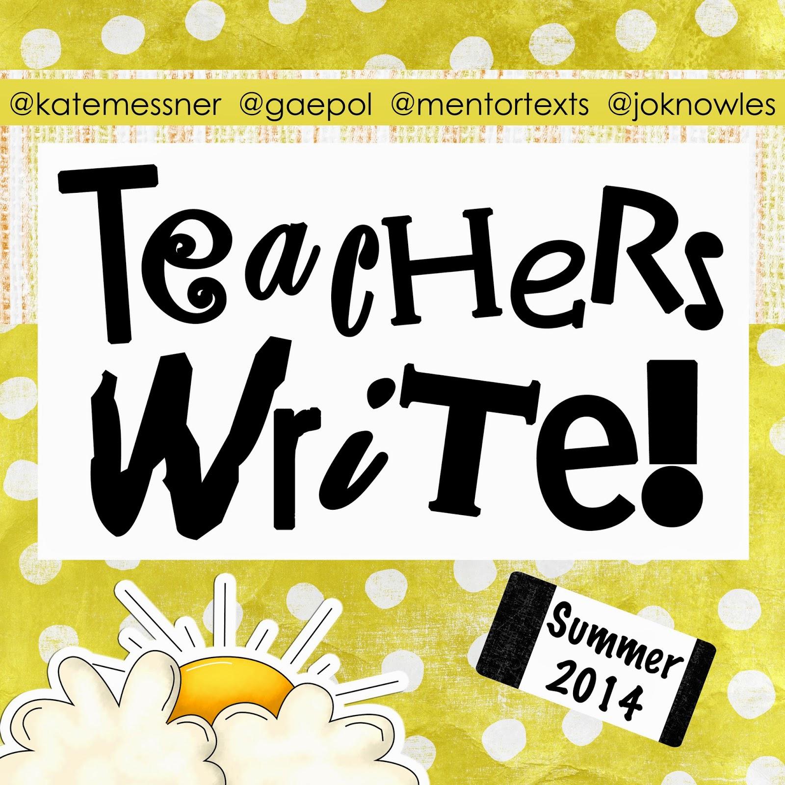 3a1019031b Teachers Write 7 7 14  Mini-Lesson Monday  You Come