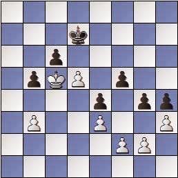 Estudio de Francesc Vivas Font, SEPA 162/3 1954, posición después de 2…g4!!