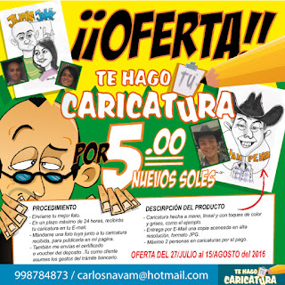 ILUSTRACION CARICATURAS OFERTA
