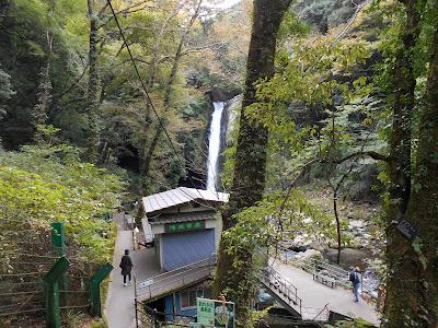 階段を下りて行く時に撮った浄蓮の滝