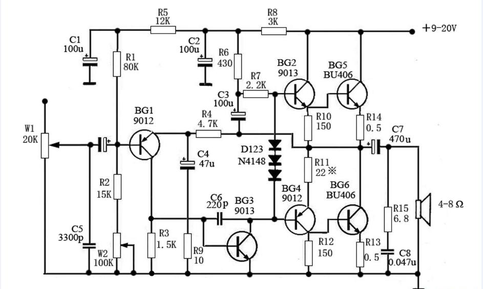 diy6 discrete components otl amplifier transistor