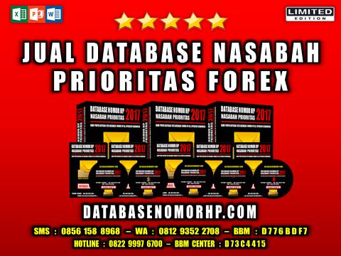 Jual Database Nasabah Prioritas Forex
