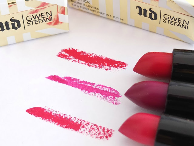Urban Decay x Gwen Stefani Lipsticks Review and Swatches