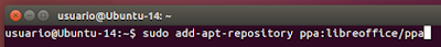 sudo add-apt-repository ppa:libreoffice/ppa