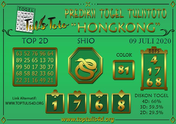 Prediksi Togel HONGKONG TULISTOTO 09 JULI 2020