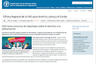 FAO lanza concurso de reportajes sobre el derecho a la alimentación. Plazo: 31 de julio