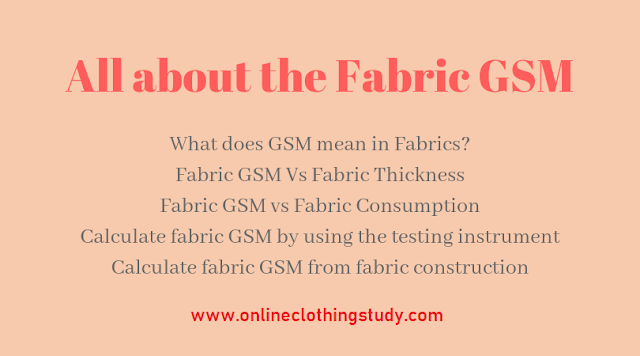 All about fabric GSM