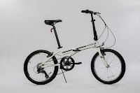 EuroMini ZiZZO Campo folding bike in white, image