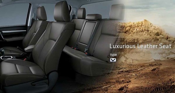 interior all new toyota hilux double cabin