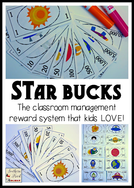 STAR Bucks in the classroom? You bet! Star Bucks are fun and easy classroom economy system that kids love. Great for behavior, homework, and participation. Perfect for the home too!