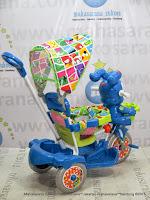 Sepeda Roda Tiga Royal RY9882CJ Baby Roy Musik Dobel Jok Kain