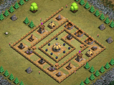 Goblin Base Clash of Clans Fool's Gold