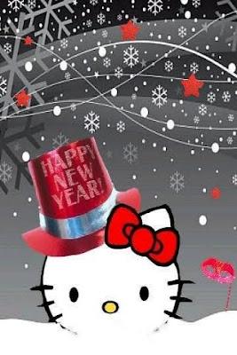 happy christmas kitty wallpaper