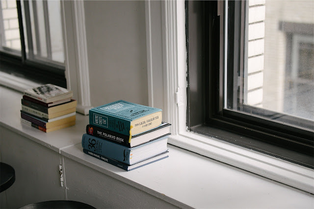 Books in window