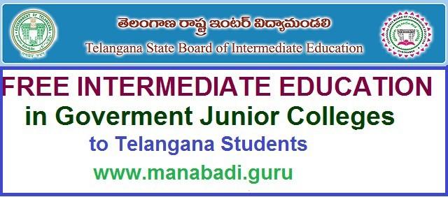 free education,telangana govt junior colleges,telangana inter admissions