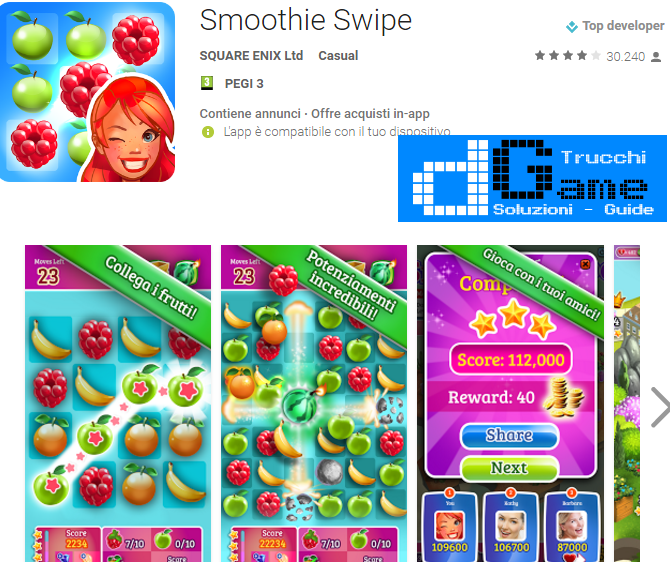 Trucchi Smoothie Swipe Mod Apk Android v1.13.0.10217.79