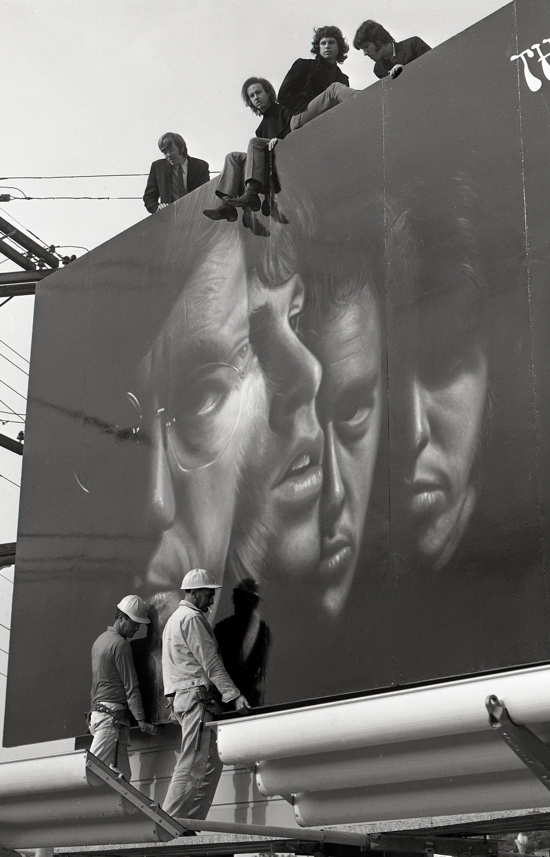 The Doors atop their billboard, 1967