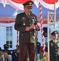 <b>Upacara HUT TNI ke-73 tingkat Kodim 1608 Bima Digelar di Halaman Kantor Walikota</b>